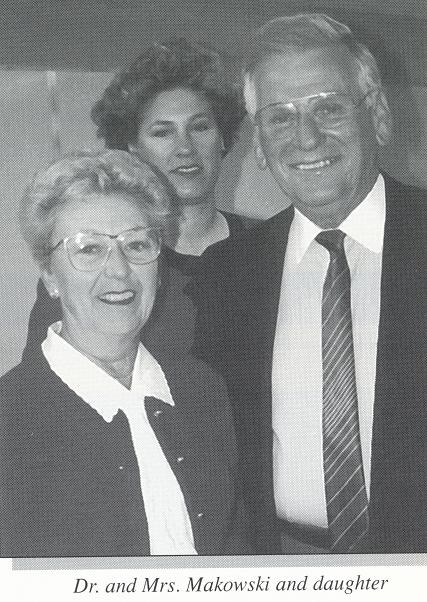 Dr. Makowski and Mrs. Makowski with daughter